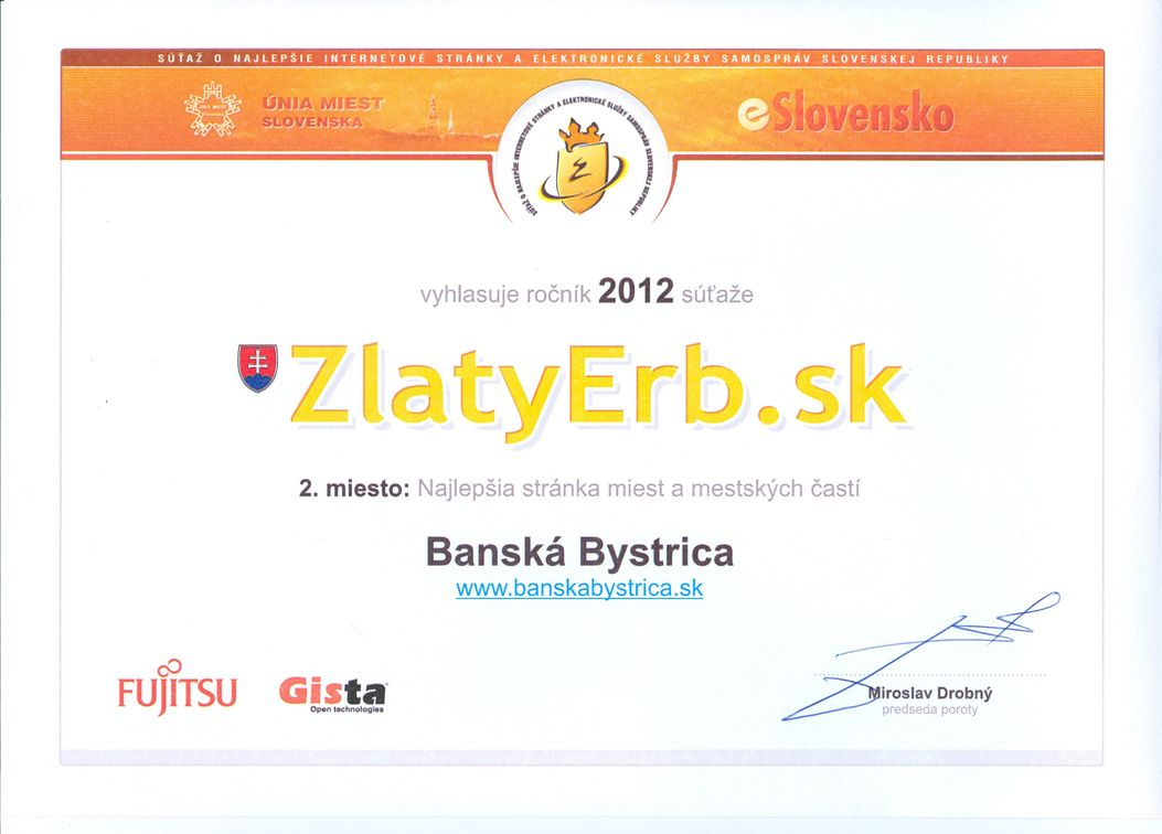 Mesto Banská Bystrica má opäť druhý najlepší web zo samospráv ... 7e614857e2e