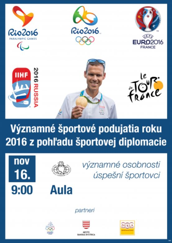 plagát Športová diplomacia