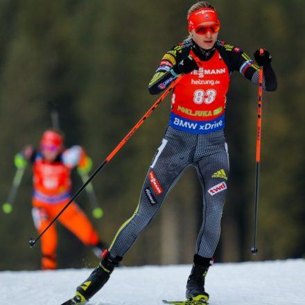 Slovinsko SR Pokluja SP biatlon 2. kolo ženy šprint