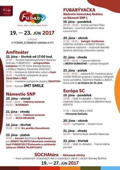 Program FUBABY 2017