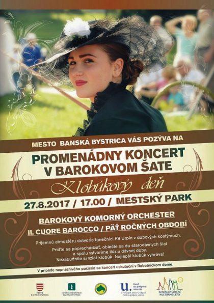 plagat promenádny koncert baroko