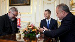 Stanislava Mičeva a Martina Klusa prijal prezident Kiska
