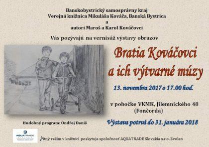 Bratia Kováčovci - pozvánka
