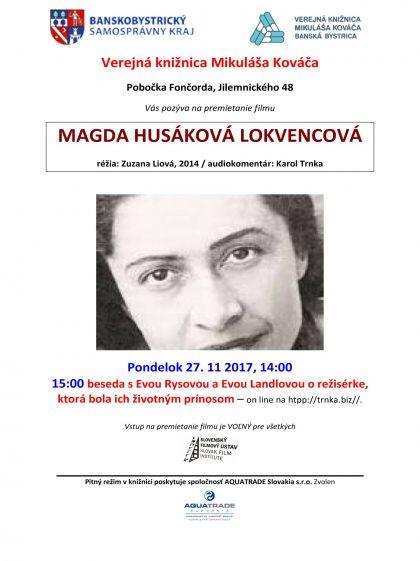 Magda Lokvencova kino premietanie