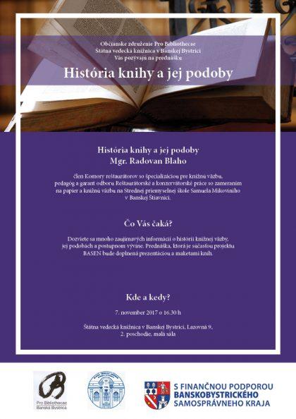 plagat prednaska historia knihy