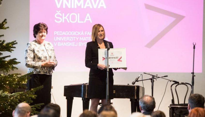 PF UMB získala cenu Vnímavá škola