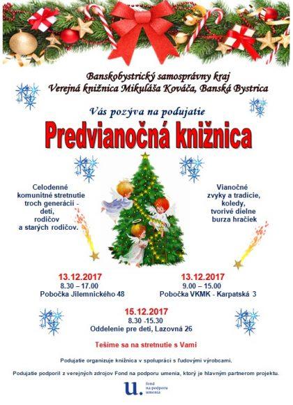 Pozvánka Predvianočná knižnica spoločná