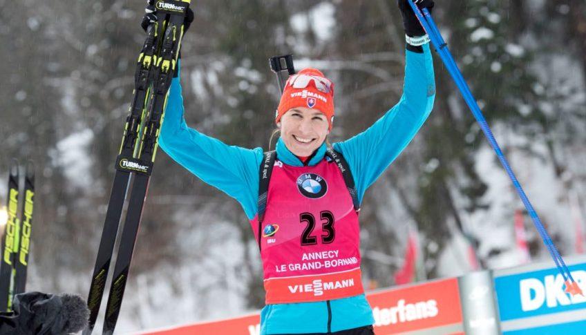 Francúzsko SR Biatlon SP šprint triumf Kuzminová