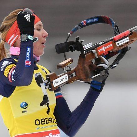 Nemecko Biatlon Ženy Oberhof stíhacie