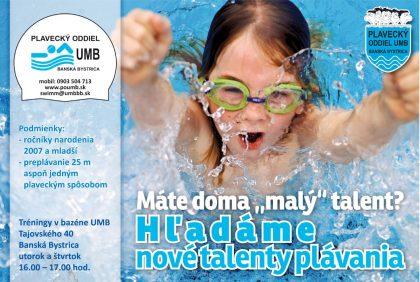 Hľadáme nové talenty plávania