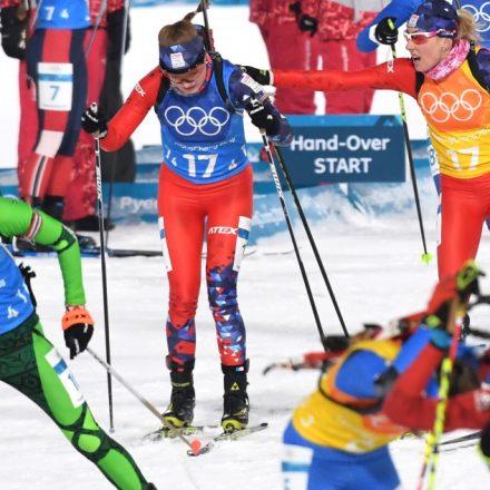 Kórea SR Pjongčang ZOH2018 biatlon štafeta ženy 4x6 km