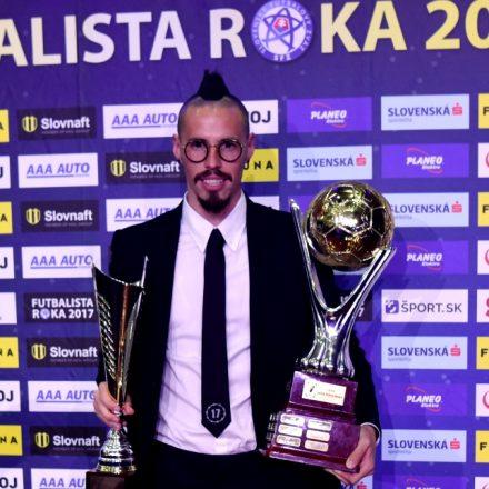SR Futbal Futbalista roka 2017 anketa vyhlásenie BAX