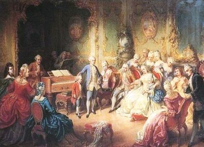 malý Mozart u císařovny Marie Terezie