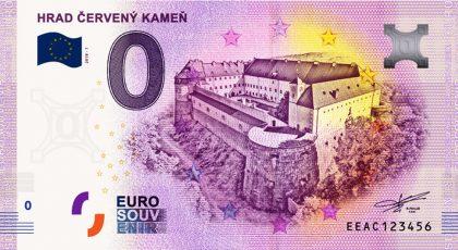 0 euro souvenir cerveny kamen