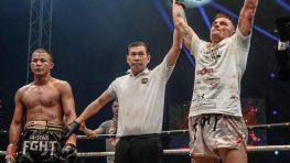 """FOTO: Vlado """"Dracula"""" Moravčík v Prahe na All Star Fight porazil veľkú thajskú hviezdu"""