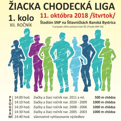 ŽIACKA CHODECKÁ LIGA OKTÓBER 2018