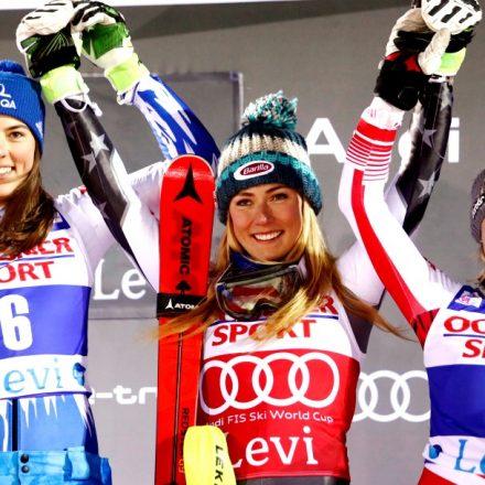 Fínsko SR Levi alpské lyžovanie SP slalom ženy 1. kolo
