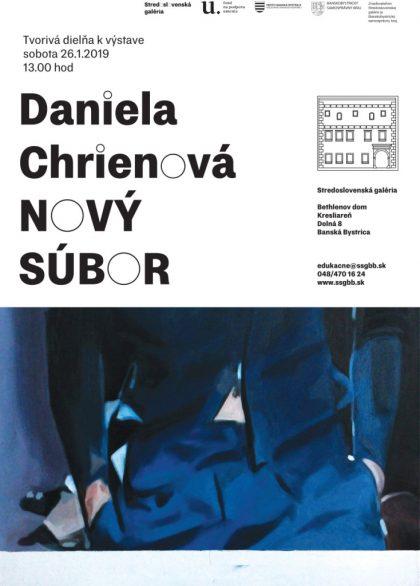 plagát SSG_tvorivá dielňa_k výstave D_Chrienovej