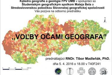 Volby ocami geografa plagat