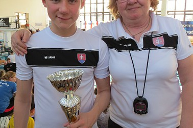 Peter Perašín a trénerka Jana Gloriková