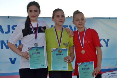 Katarína Kortánová vľavo - 2. miesto M-SR 2016