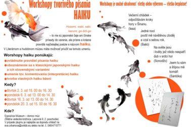 Radka Čabrádiová - haiku plagát