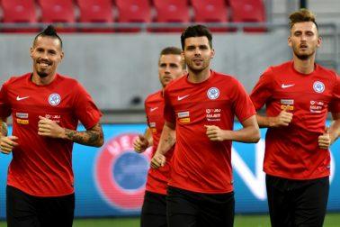 SR Futbal MS kvalifikácia F Slovensko Slovinsko príprava TTX