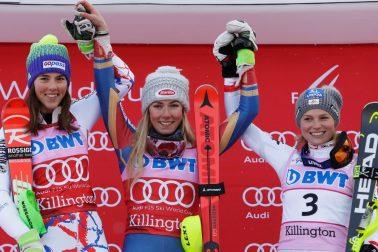 USA lyžovanie SP slalom ženy