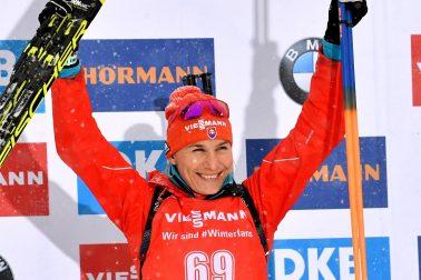 Rakúsko SR Biatlon SP 2.kolo šprint ženy Kuzminová