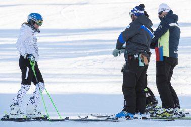 Francúzsko alpské lyžovanie Velez - Zuzulová tréning