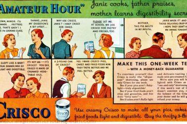 Crisco - jedna z reklám na úžasnú novinku
