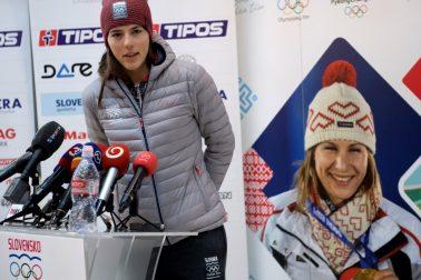 SR Lyžovanie alpské ZOH2018 Vlhová návrat TK BAX