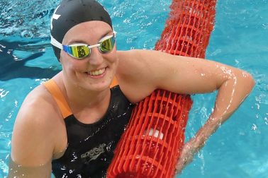 Veronika Kolníková z UMB Banská Bystrica - víťazka 400 m polohové preteky
