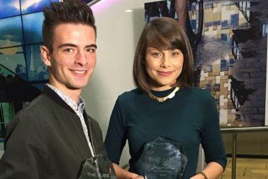 Víťazi súťaže Oliver Kuklovský a Fay Loewy