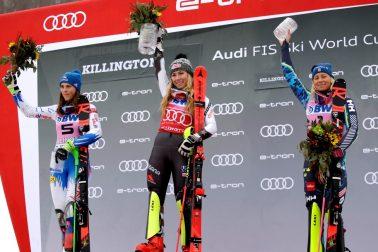 USA Killington Slalom Alpské Lyžovanie Ženy