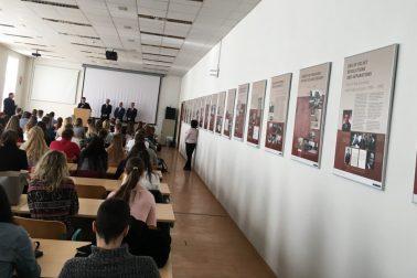 Výstava 100 ROKOV SLOVENSKEJ DIPLOMACIE na FPVaMV UMB