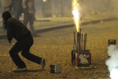 pyrotechnika v meste