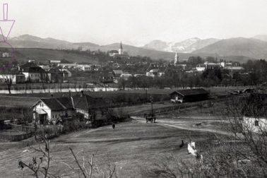 Pohlad od zeleznicnej stanice na Radvan