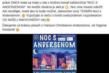 Noc s Andersenom na FB