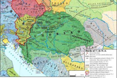 mapa stredovekeho Uhorska
