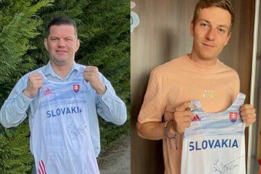 foto Anton Minárik a Ján Volko s dresom