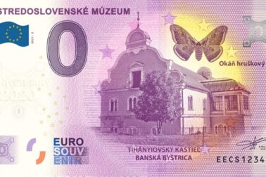 0-euro-souvenir bankovka tihayiovsky kastiel