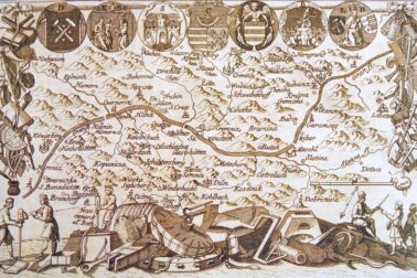 Mapa-siedmych-banských-miest-z-roku-1760
