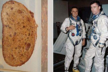 John Young vpravo so sendvicom