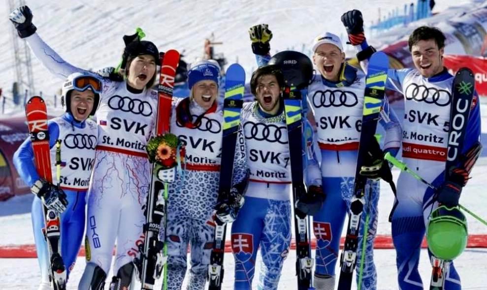 6b467c439 O historicky prvú medailu z MS v alpskom lyžovaní sa pričinili traja  Duklisti