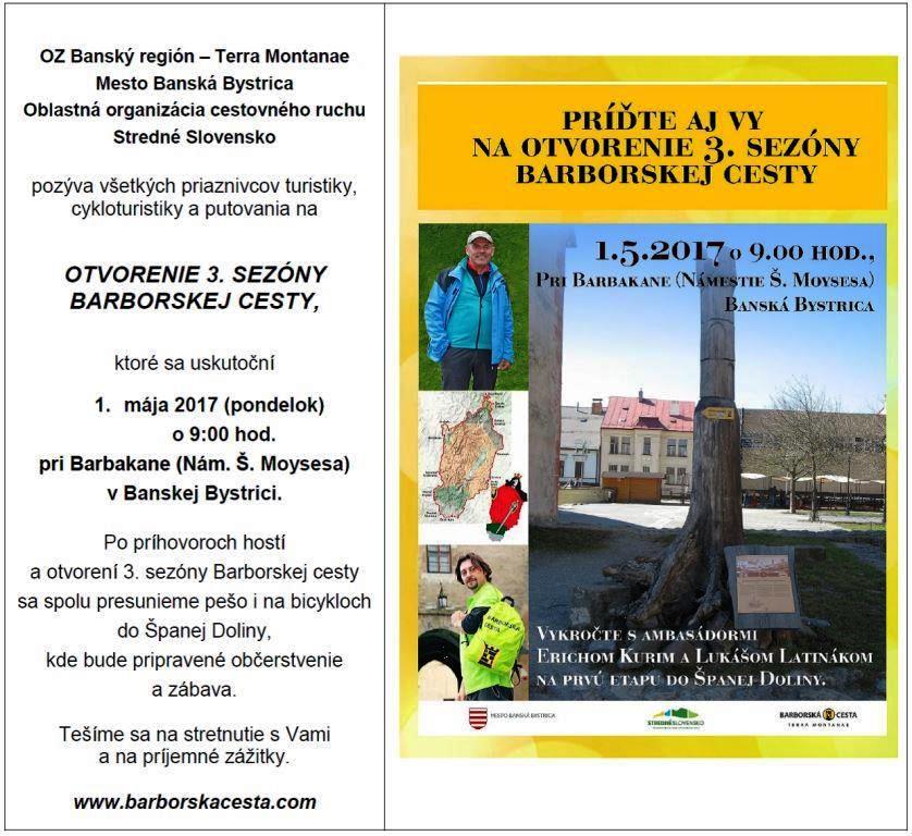 2c88ef3ec plagat otvorenie barborskej cesty | Bystricoviny.sk - správy ...