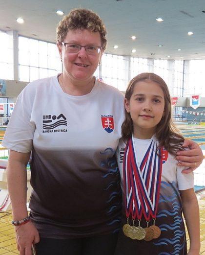 Ema Malíková a trénerka Poančoková