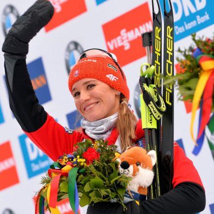 Nemecko SR Ruhpolding biatlon hromadný štart ženy SP 5. kolo