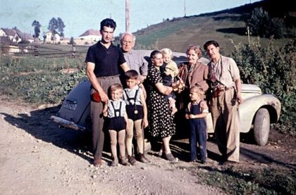 10 S rodinou na Donovaloch 1958