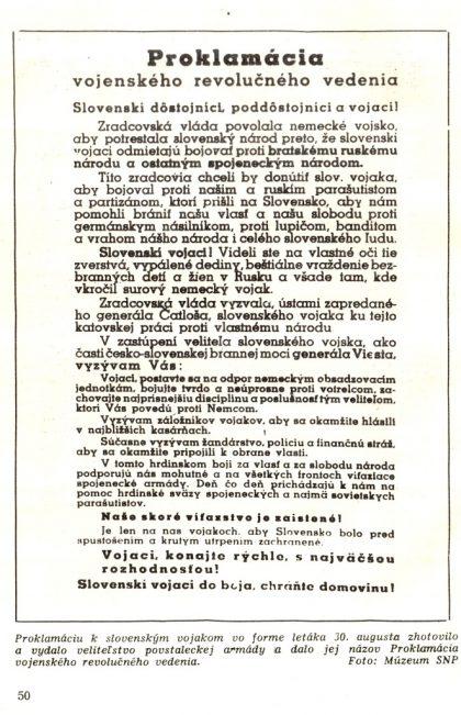 6 Proklamácia k slovenským vojakom